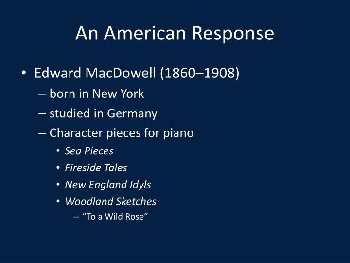 An American Response