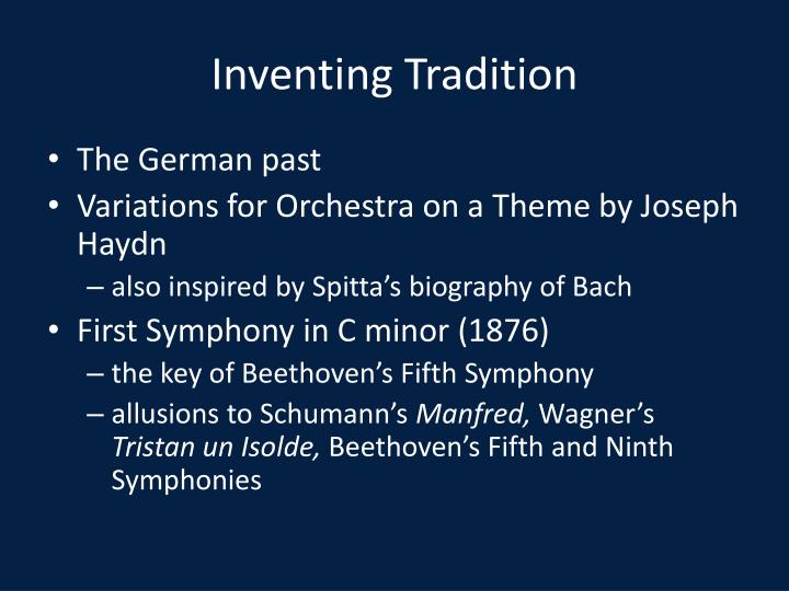 Inventing Tradition