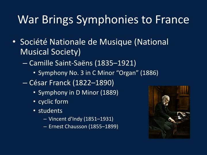 War Brings Symphonies to France