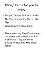 plays drama for you to enjoy