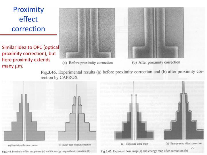 Proximity effect correction