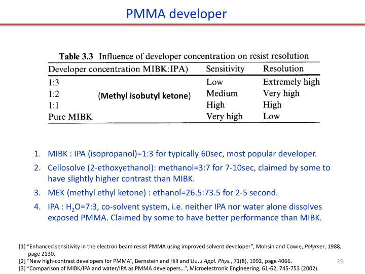 PMMA developer