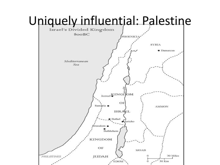 Uniquely influential: Palestine