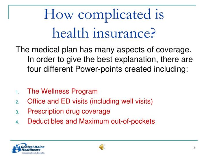 How complicated is health insurance