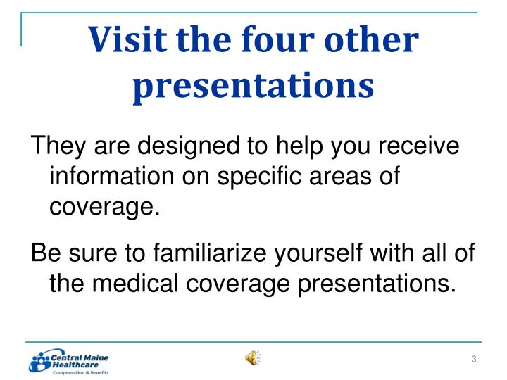 Visit the four other presentations