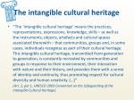 the intangible cultural heritage