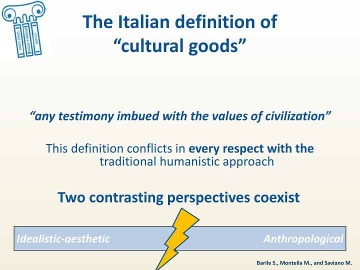 The Italian definition of