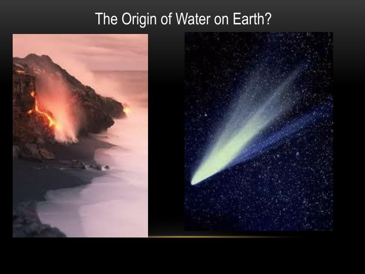 The Origin of Water on Earth?