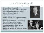 life of f scott fitzgerald