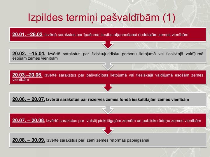 Izpildes termiņi pašvaldībām (1)