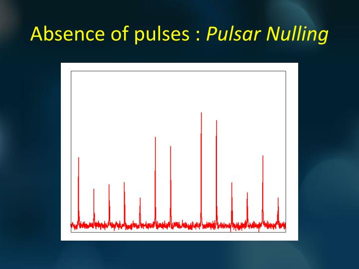 Absence of pulses pulsar nulling