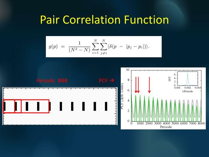 Pair Correlation