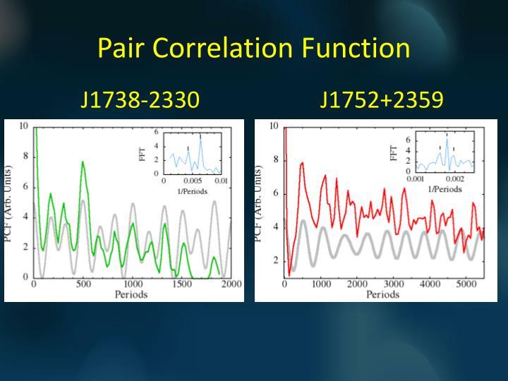 Pair Correlation Function