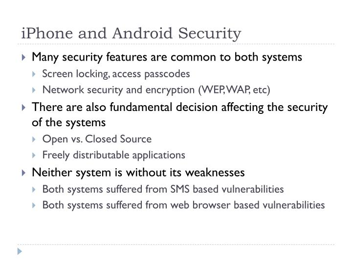 Iphone and android security1