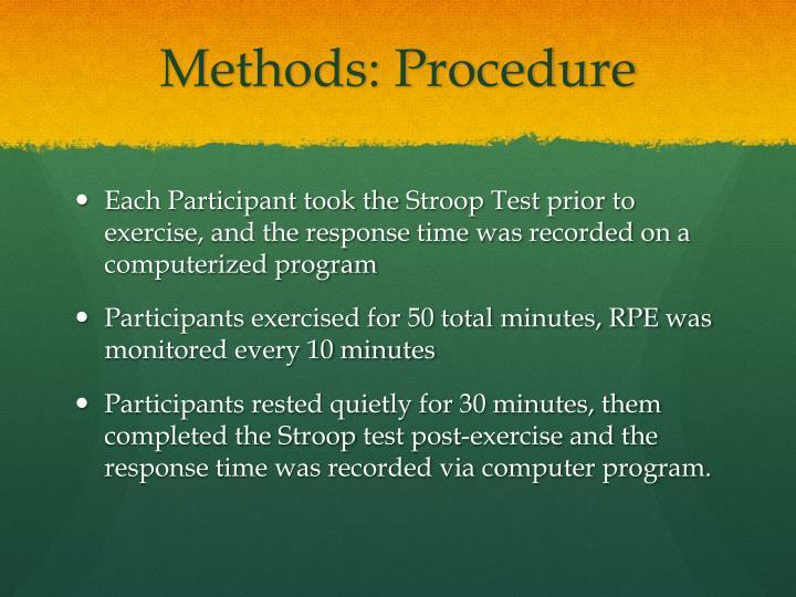 Methods: Procedure