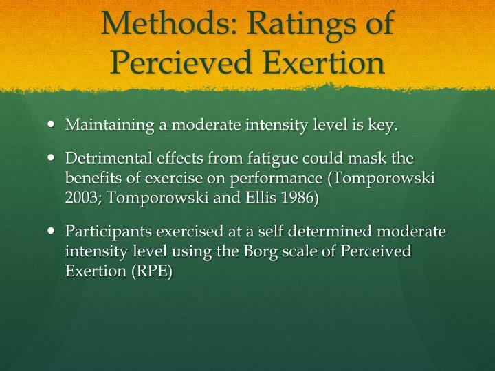 Methods: Ratings of