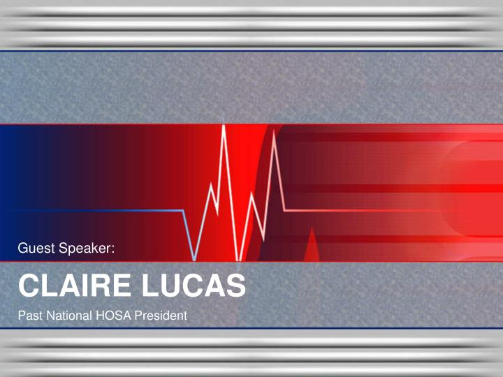 Guest Speaker: