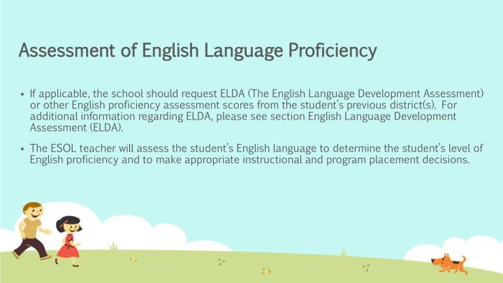 Assessment of English Language Proficiency