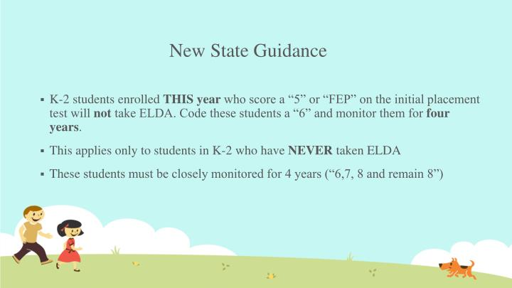 New State Guidance