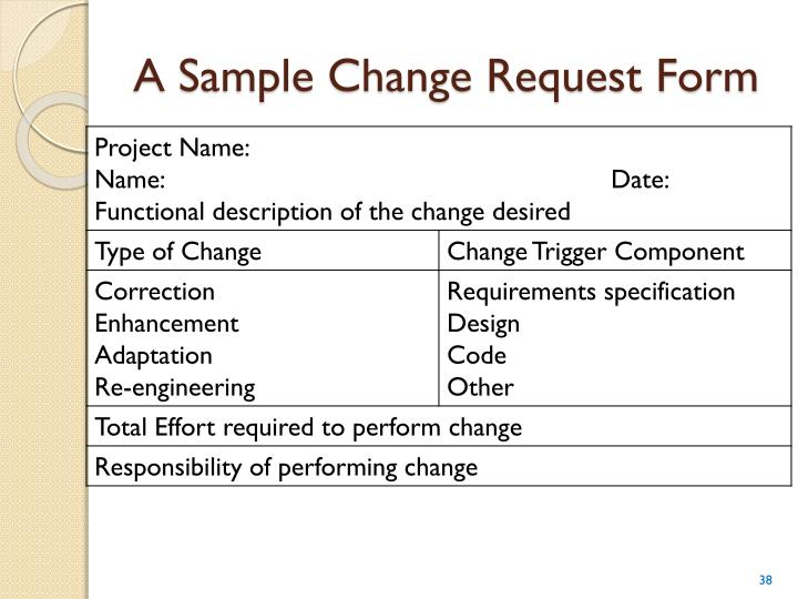 A Sample Change Request Form