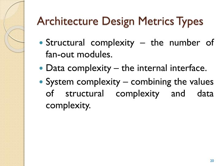 Architecture Design Metrics Types