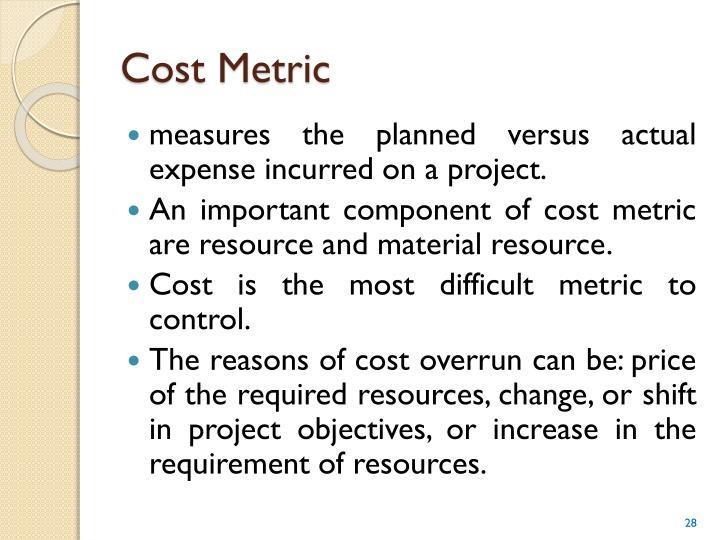 Cost Metric