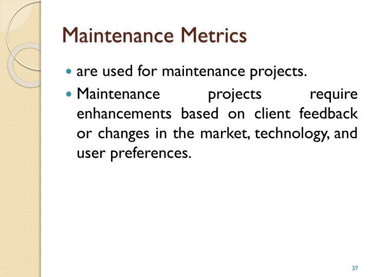 Maintenance Metrics