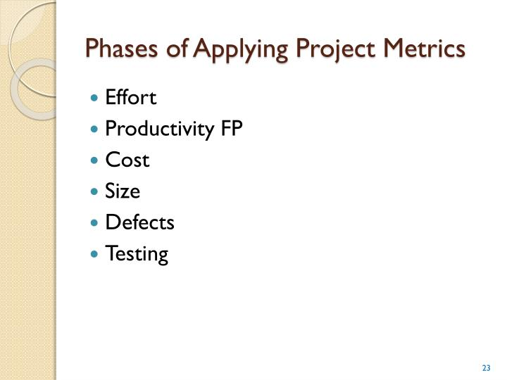 Phases of Applying Project Metrics