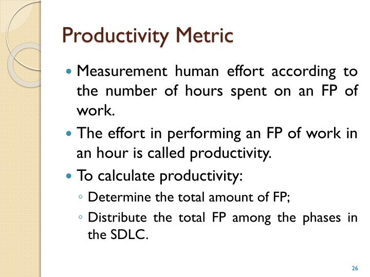 Productivity Metric