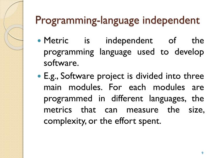 Programming-language independent
