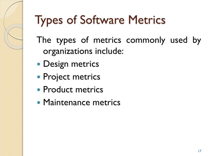 Types of Software Metrics