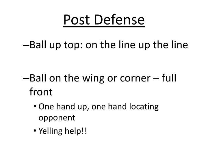 Post Defense