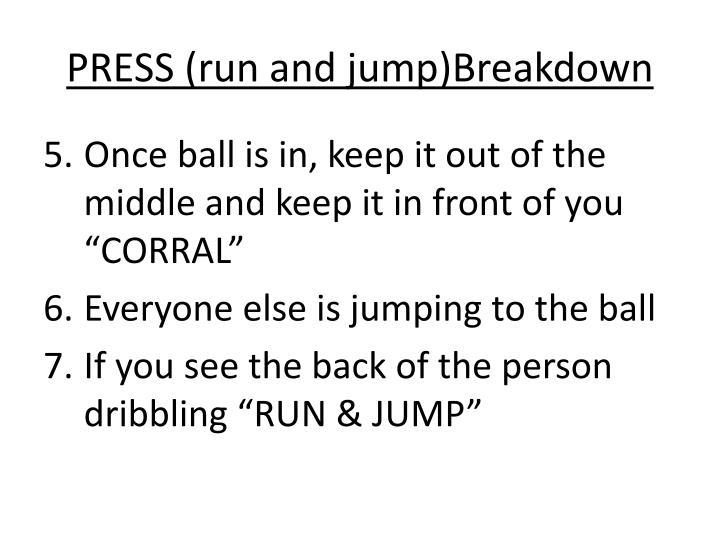 PRESS (run and jump)Breakdown