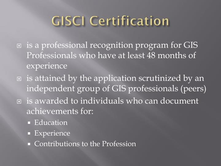 GISCI Certification