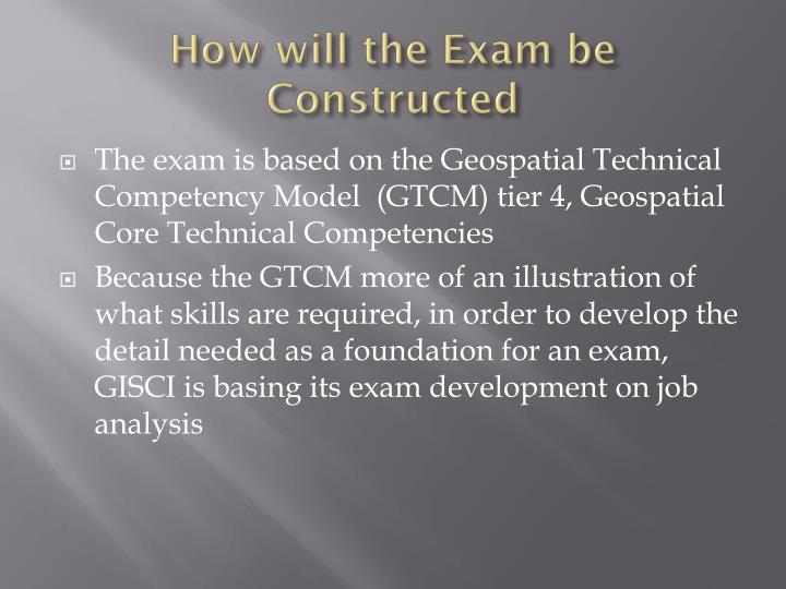 How will the Exam be Constructed