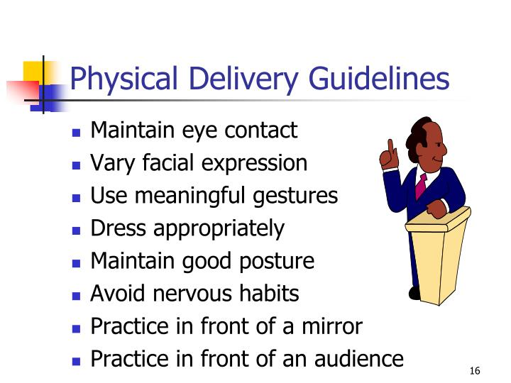 Physical Delivery Guidelines