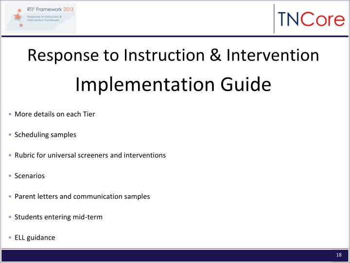 Response to Instruction & Intervention