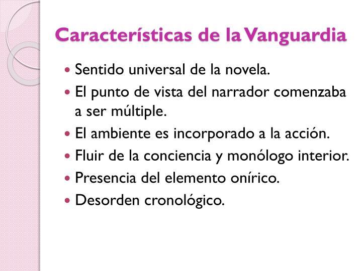 Características de la Vanguardia
