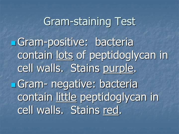 Gram-staining Test