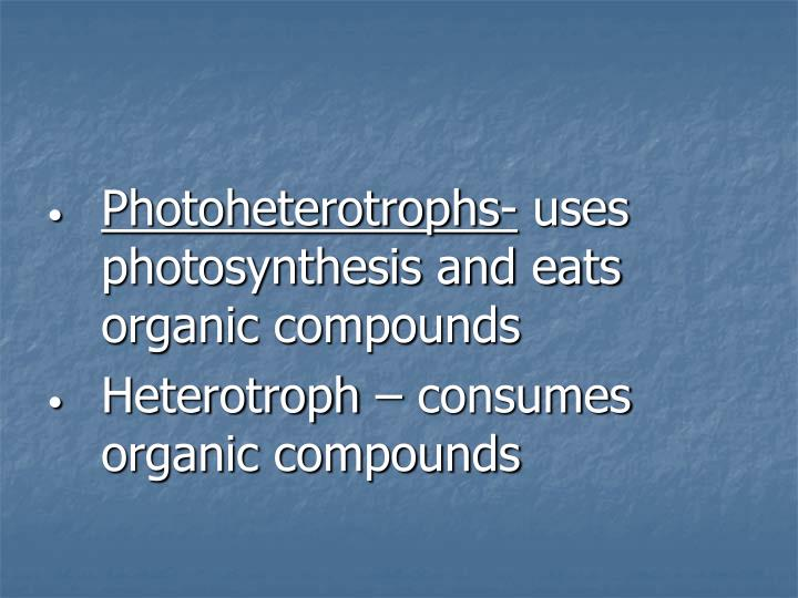 Photoheterotrophs-