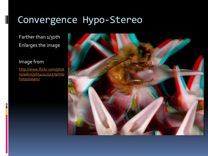 Convergence Hypo-Stereo