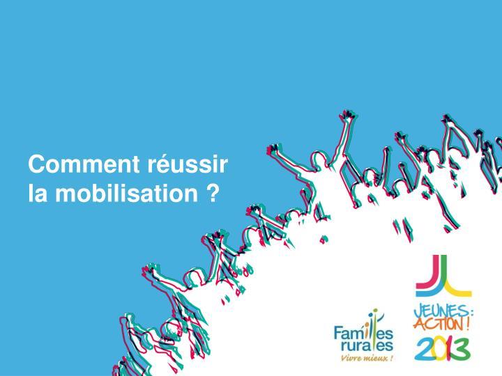 Comment réussir la mobilisation ?