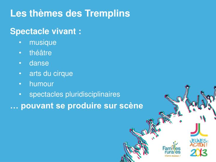Les thèmes des Tremplins