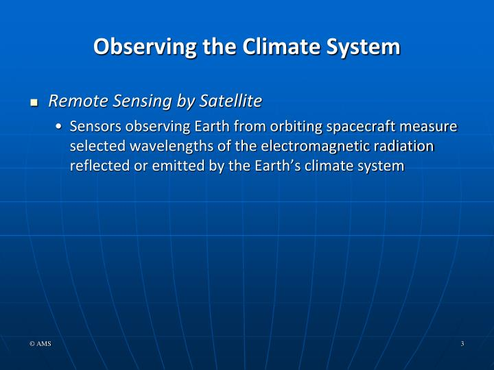 Observing the Climate System
