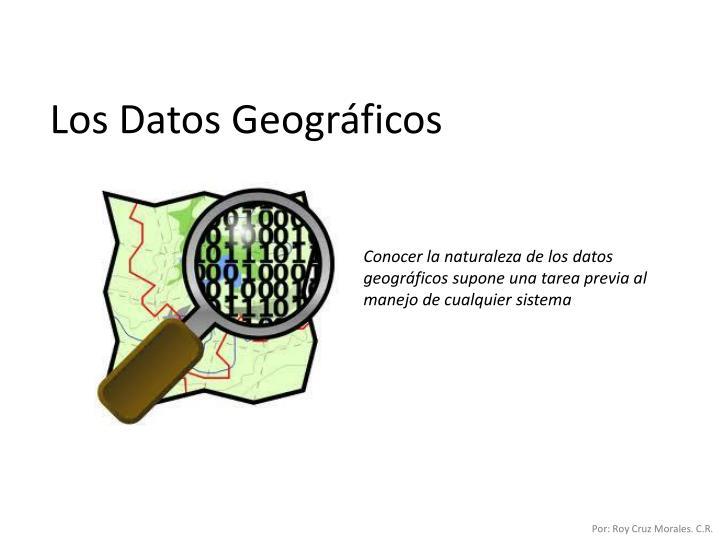 Los Datos Geográficos