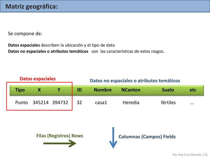 Matriz geográfica: