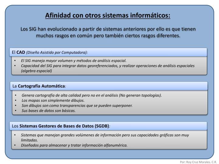 Afinidad con otros sistemas informáticos: