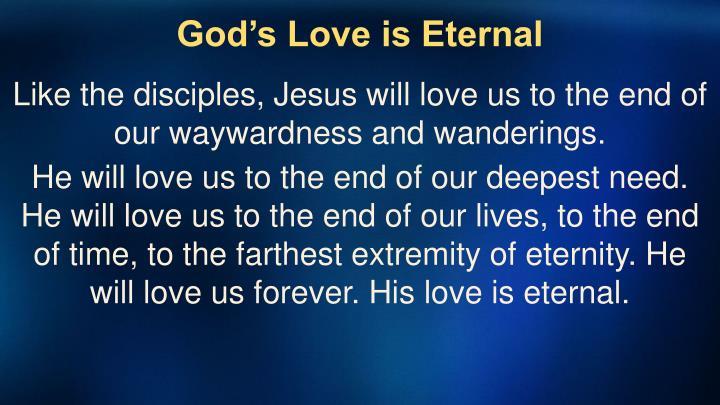 God's Love is Eternal