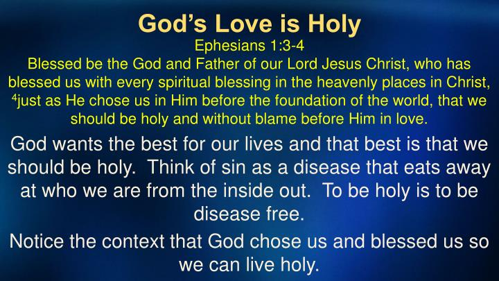 God's Love is Holy