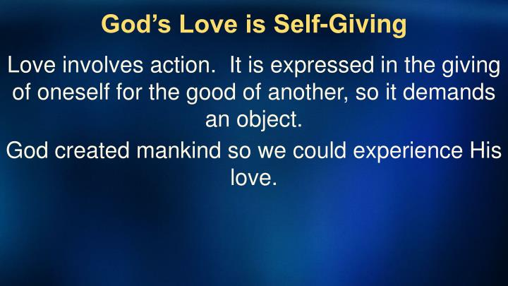 God's Love is Self-Giving